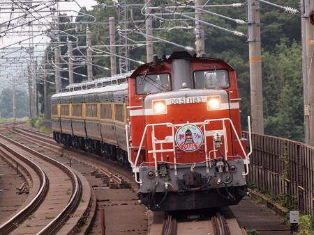 DD51+14系 サロンカーなにわ 湖西線志賀駅