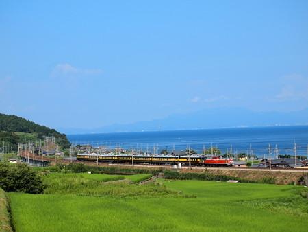 DD51+14系サロンカーなにわ 湖西線市民号 湖西線北小松~近江高島