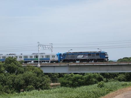 EF210 西武30000系甲種  東海道本線西岡崎~岡崎03