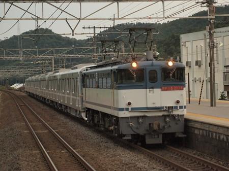 EF65  メトロ13000系甲種  東海道本線近江長岡駅02