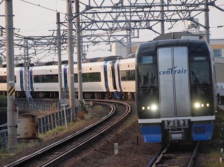 名鉄2000系ミュースカイ 名鉄名古屋本線東枇杷島駅02
