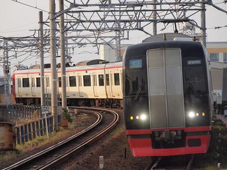 名鉄2200系回送 名鉄名古屋本線東枇杷島駅