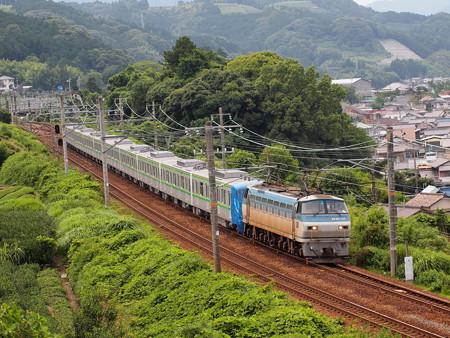 EF66 メトロ16000系甲種東海道本線金谷~島田02