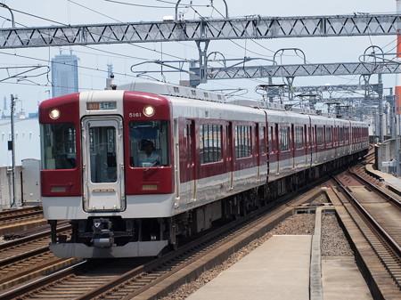 近鉄5200系急行  近鉄名古屋線八田駅02