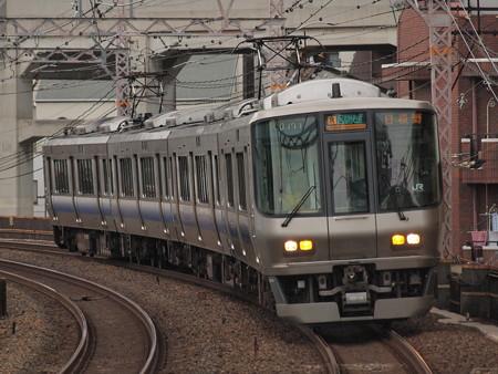 223系区間快速 阪和線美章園駅01