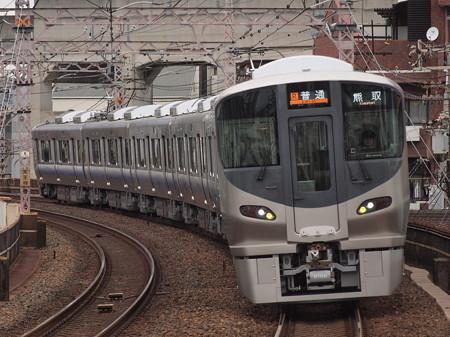 225系普通 阪和線美章園駅01