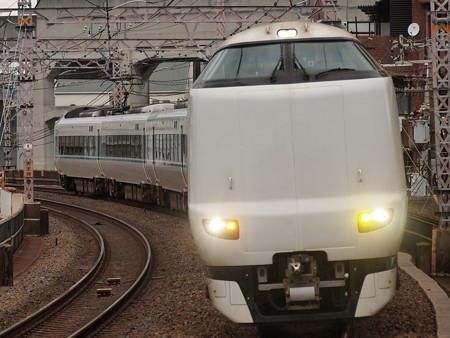 287系特急くろしお  阪和線美章園駅02