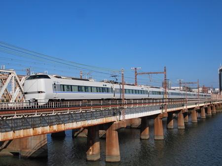 683系特急サンダーバード 東海道本線新大阪~大阪04