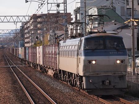 EF66貨物 東海道本線甲南山手駅