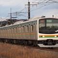 205系普通 東北本線片岡~蒲須坂