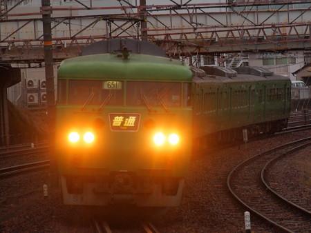 117系普通 東海道本線石山駅