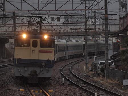 EF65 東武500系甲種 東海道本線石山駅01