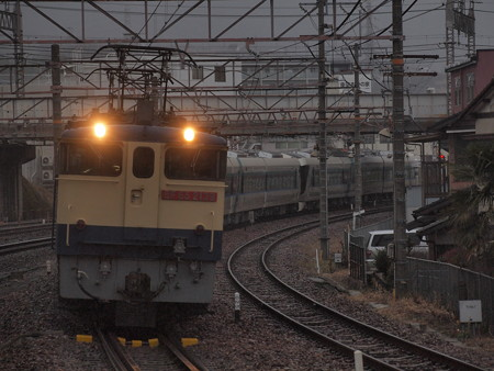 EF65 東武500系甲種 東海道本線石山駅02