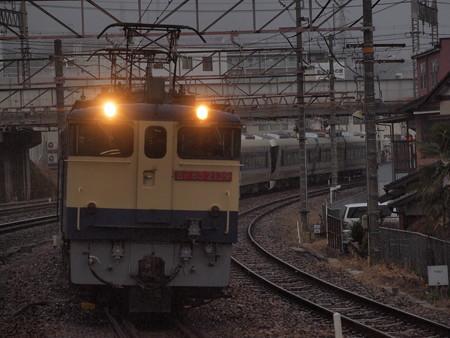EF65 東武500系甲種 東海道本線石山駅03