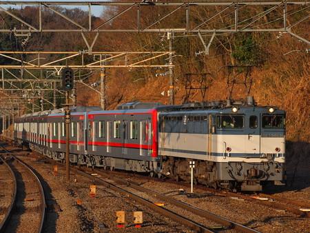 EF65 東武70000系甲種 東海道本線函南駅01