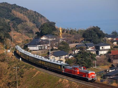 DD51 サロンカーなにわ  山陰本線泊~青谷06