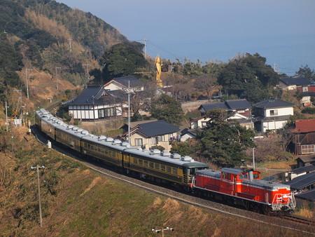 DD51 サロンカーなにわ  山陰本線泊~青谷07