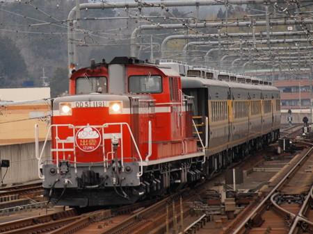 DD51 サロンカーなにわ  山陰本線福知山駅05