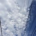 写真: 雲の道と