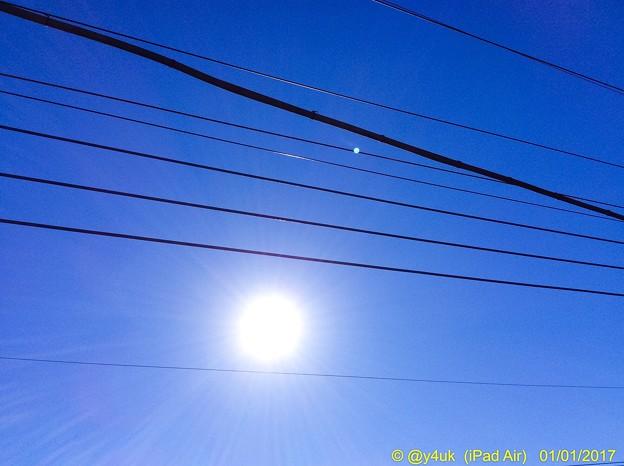 Photos: 暖かい元日の空に太陽 ~2017 Start