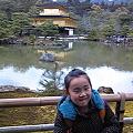 写真: 帰り京都寄って金閣寺なふ。スゲー金ピカ!脱税の臭いがぷんぷんする...
