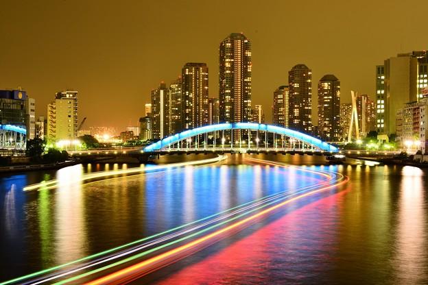 写真: 隅田川の夕景