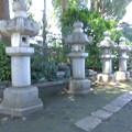 世田谷線:松陰神社前駅界隈_松陰神社-06c石灯籠(社殿に向かって右側)