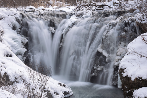 Ice On Waterfall