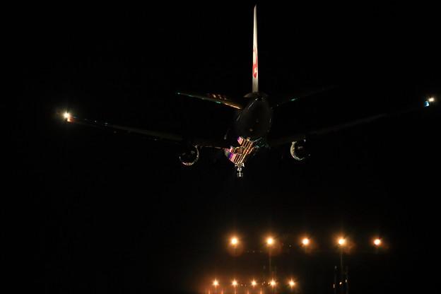 写真: JAL最終便
