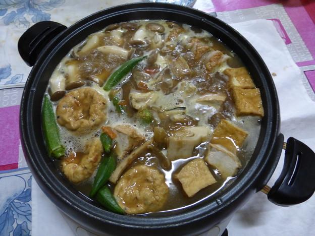アナゴとアワビのカレー鍋