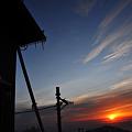 写真: 丹沢の夜明け
