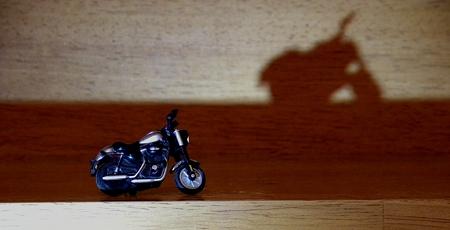 息子が撮ったバイクの玩具