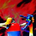 写真: 鉄人vsモンスター