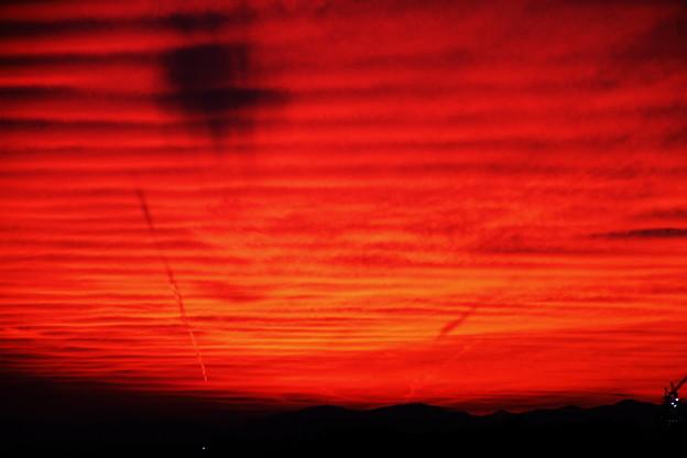 10月10日の焼け空