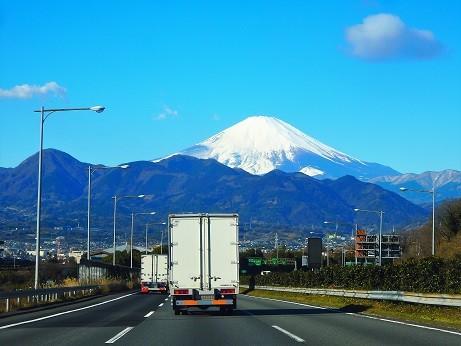 富士山~東名大井松田IC付近
