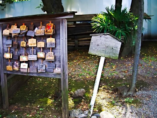 上中里 平塚神社 絵馬と看板