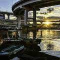 写真: 朝の芝浦