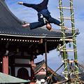 写真: 梯子乗り2