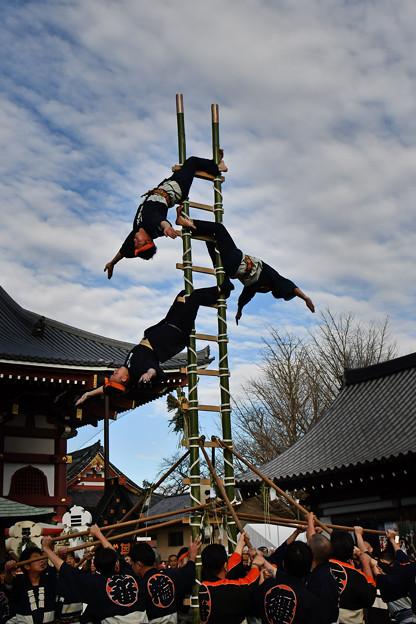 写真: 梯子乗り6