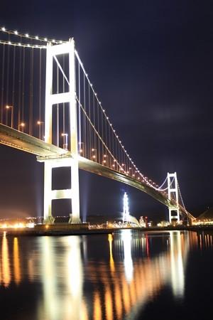 夜の白鳥大橋 (1)