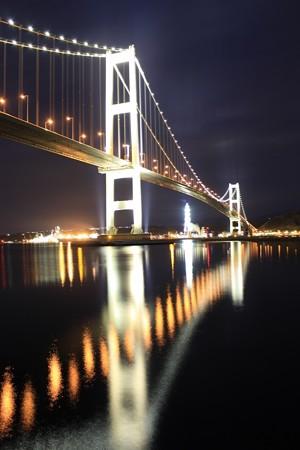 夜の白鳥大橋 (2)