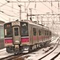 秋田駅へ急ぐ