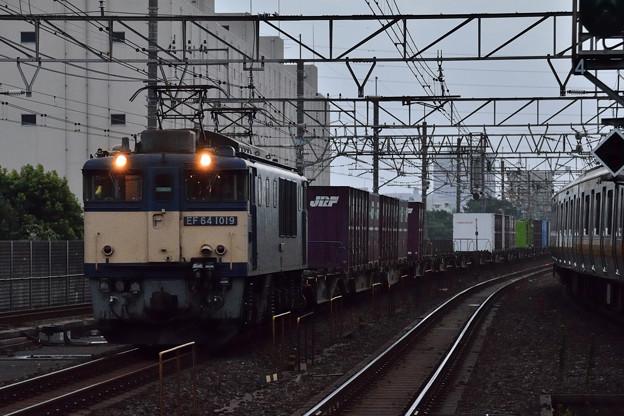 EF641019牽引コンテナ貨物1090レ