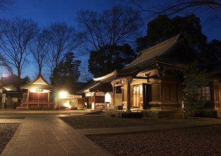 川越氷川神社の夕景