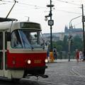 写真: プラハの路面電車