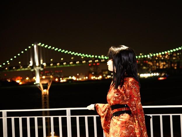 夜景ポートレート(着ぐるみ) 02