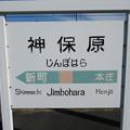 Photos: 神保原駅 駅名標【下り】