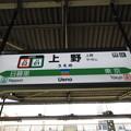 #JJ01 上野駅 駅名標【常磐線・上野東京ライン】