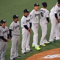 Photos: 選手整列。