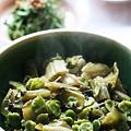 Photos: 青菜(せいさい)煮、塩抜きした青菜漬けを炒め煮にしたもの